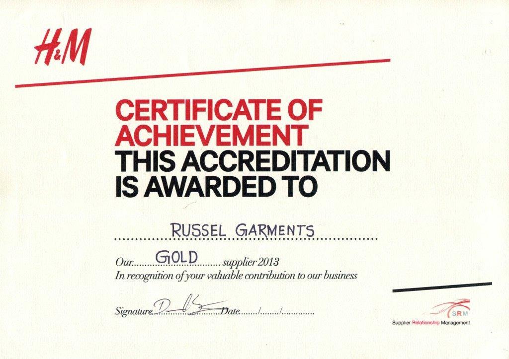 Gold Award-2013